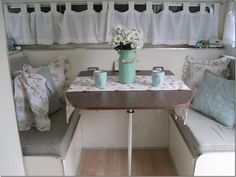 Shabby Chic is another popular look in retro trailers