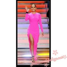 Jennifer Lopez pink prom dress American Idol Top 10 to 9 Show $89.99 each at Celebsbuy.net