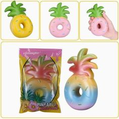 Doughnut Pineapple Rising Kawaii Squeeze Toys Decoration Phone Straps Fun Toys Children Gift Beautiful In Colour Welding Helmets