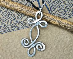 Big Celtic Swirl Shamrock Whirl Pendant by nicholasandfelice