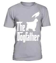 # The-Dogfather-Clumber-Spaniel-T-shirt .  The Dogfather Clumber Spaniel T shirt