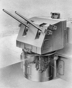 5 inch twin gun mount.