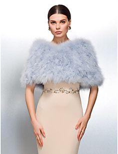 Wedding / Party/Evening / Casual Feather/Fur Shawls Fur Wrap... – GBP £ 55.99