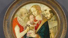 Maria und Jesus mit den Heiligen Franziskus und Hieronymus von Filippino Lippi und Werkstatt