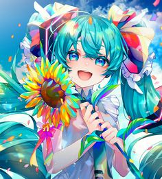 Vocaloid, Anime Drawings Sketches, Cute Drawings, Pretty Art, Cute Art, Hatsune Miku Project Diva, Anime Flower, Princess Drawings, Otaku