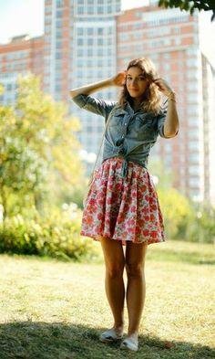 Look com Camisa Jeans Amarrada