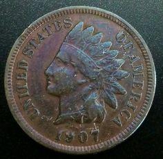 FREE SHIPPING ** 1906 Indian Head Cent Penny NICE VF XF Sharp LIBERTY