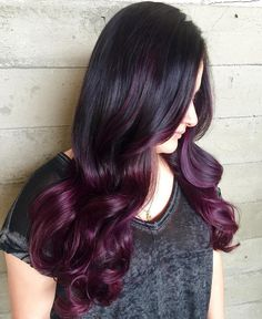 Black+To+Burgundy+Ombre