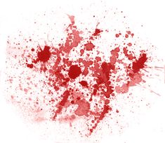 splattered blood   Transparent Blood Splatter