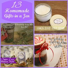 13 Homemade Gifts in a Jar.