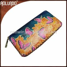 Wholesale beautiful butterfly pattern ladies leather clutch evening bags #Clutch_Bags, #pattern