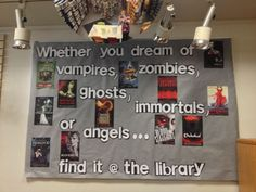 back to school bulletin board ideas for teens | Teen fiction Coventry Public Library, RI bulletin board.