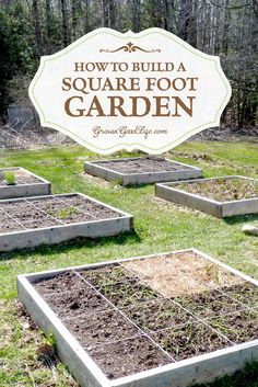 to Build a Square Foot Garden Building a square foot garden is a quick and easy way to begin or expand your garden. Visit Grow a Good Life to see how we built our square foot garden beds.Building a square foot garden is a quick and easy way to begin or Container Gardening, Gardening Tips, Organic Gardening, Vegetable Gardening, Herb Container, Permaculture Garden, Square Foot Gardening, Edible Garden, Raised Garden Beds
