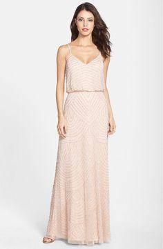 Beaded boho bridesmaid dress