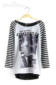 Simple Charming Middle Sleeves Comfortable T-shirt , Comfortable