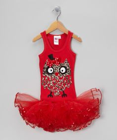 Red Cheetah Owl Tutu Dress - Girls | Daily deals for moms, babies and kids