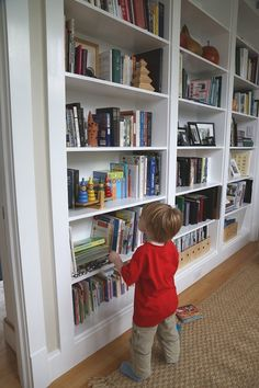 Built in bookshelves : Living With Kids: Cory Kallfelz [Design Mom]