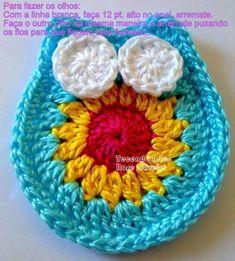 Hiboux colorés , pas à pas en images ! Marque-pages Au Crochet, Patron Crochet, Crochet Turtle, Freeform Crochet, Crochet Hats, Owl Crochet Patterns, Christmas Crochet Patterns, Crochet Blocks, Crochet Designs