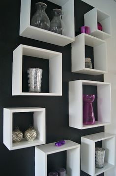 LACK white high-gloss wall shelves | decorating my new home ...