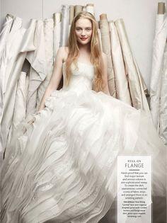 Vera Wang / Wedding Dress Details from Martha Stewart Weddings Fall 2013 Issue