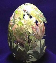 Carved & Painted Duck Egg created by Beth LeBlanc of Overland Park, Kansas
