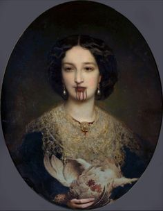 Not sure who the artist is. but I f**king Love this painting. Arte Horror, Horror Art, Dark Romance, Exhibition, Victorian Art, Classical Art, Renaissance Art, Les Oeuvres, Art Inspo