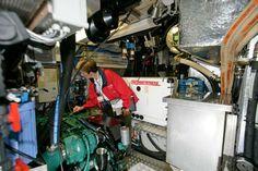 You gotta love THIS engine room!! Wow.   2004 Hallberg-Rassy HR 62 Sail Boat For Sale - www.yachtworld.com