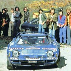 Tour de Corse Bernard Darniche with behind the Lancia Beta from MFS as a service car and spare wheels. Maserati, Ferrari, Service Car, Ol Days, Rally Car, Car Brands, Le Mans, Sport Cars, Golden Age