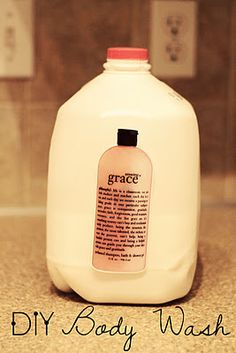 DIY:: Grace Body Wash. Equals Just over a Dollar a gallon for body wash! A Must Pin !