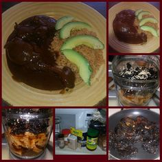 #DinnerIsReady waiting for hubby to get off work! Surprising him with one of his oldtime favs #Mexican #Mole #yummy #Homemade from scratch no Doña Maria lol not today! Lol. #ChilesPasilla and #Guajillo #Dinner served with #Rice topped with #Avocado  #DeliciasMexicanas #LaCena #AComer #CometeAlgo @tellez_francisco  by @perez_estela
