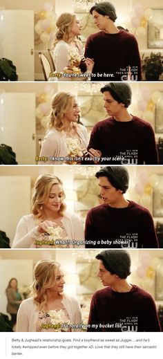 Riverdale Funny - Betty and Jughead moments Riverdale Funny, Bughead Riverdale, Riverdale Archie, Riverdale Memes, Movies And Series, Movies And Tv Shows, Orphan Black, Fandoms, Sprouse Bros