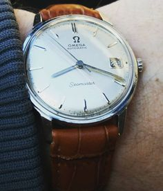 klocksnack:  Finally the sun i shining again and so is this Seamaster from 1966 :) #omega #omegaseamaster #vintageomega #vintagedresswatch #omegautomatic #klocksnack #vintagestyle #wristporn #vintagewatches #originaldial /timecatch3r - http://ift.tt/1Mm0WF1