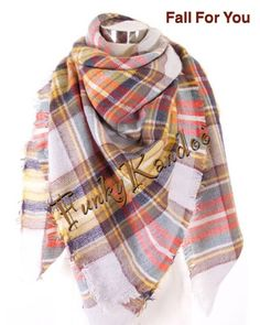 Fall For You Blanket Scarf. Purchase from Funky Kandoo on Facebook or Instagram