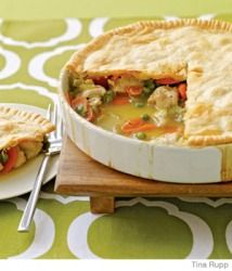 Easy Chicken Pot Pie: Use Cream of Chicken soup in place of Chicken Gravy for thicker, creamier dish.