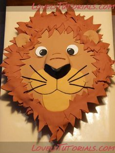 Lion head cake tutorial