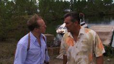 "Burn Notice 4x16 ""Dead or Alive"" - Sam Axe (Bruce Campbell) & Pete Jackman (Raphael Sbarge)"