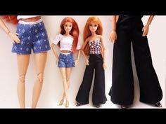 Short e Calça Envelope para Barbie (Sem Costura) - Tutorial para Bonecas - YouTube