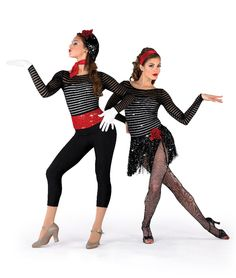 15794 - Mime Mambo All-in-One Leotard with 15794F Fringe Skirt, 15794P Capri Pants by A Wish Come True