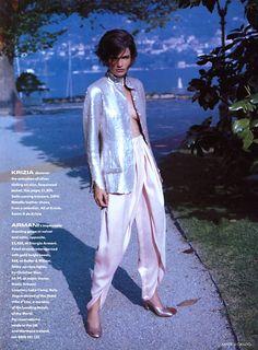 ☆ Helena Christensen | Photography by Sante D'Orazio | For Vogue Magazine UK | September 1990