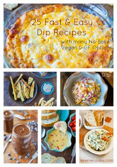 25 Fast & Easy Dip Recipes by @averie - perfect for Super Bowl snacks!