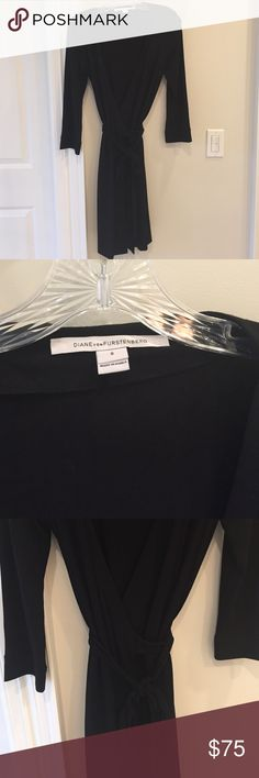 Diane Von Furstenberg black mini wrap dress DVF mini wrap dress in black. Excellent condition Diane von Furstenberg Dresses Mini