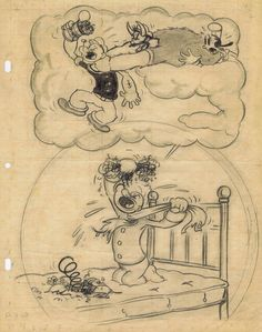 This is devoted to production art from the short films made during the Golden Age of Animation. Old Cartoons, Classic Cartoons, Animated Cartoons, Cartoon Sketches, Drawing Cartoons, Cartoon Illustrations, Miss Piggy, Popeye And Olive, Magic Illusions