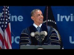 President Obama delivers remarks at the University of California-Irvine commencement ceremony in Anaheim, California, June Black Presidents, Greatest Presidents, White House Obama, Barack And Michelle, New Law, Political Events, Our President, Air Force Ones, Global Warming