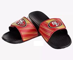 e900f92703b San Francisco NFL Legacy Sport Slide Mens - Medium Officially Licensed  Pebbled sole for comfort Vibrant team colors Size Chart  Mens Sizes Small  Medium ...