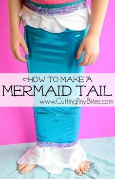 DIY Mermaid Tail Tutorial.  Simple sewing tutorial on how to make a child's mermaid tail costume for pretend or imaginary play.