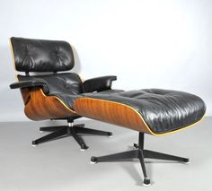 View this item and discover similar Lounge Chairs for sale at Pamono. Shop with global insured delivery at Pamono. Vitra Design Museum, Charles & Ray Eames, Chairs For Sale, Chair And Ottoman, 1970s, Lounge, Furniture, Home Decor, Airport Lounge