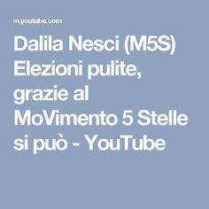 Dalila Nesci (M5S) Elezioni pulite, grazie al MoVimento 5 Stelle si può - YouTube