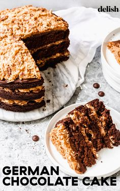 Let's talk about the best part: the filling. #frosting #homemade #easy #best #howtomake Just Desserts, Delicious Desserts, Yummy Food, Ty Food, Sweet Recipes, Cake Recipes, Dessert Recipes, Chocolate Cheesecake, Chocolate Cakes
