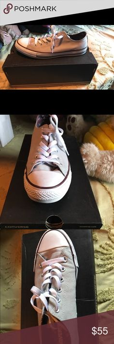 Ash Grey Double Tongue Converse These size 10 Medium Ash Grey Converse will look great on your feet! Converse Shoes Sneakers