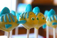Flounder cake pops from The Little Mermaid